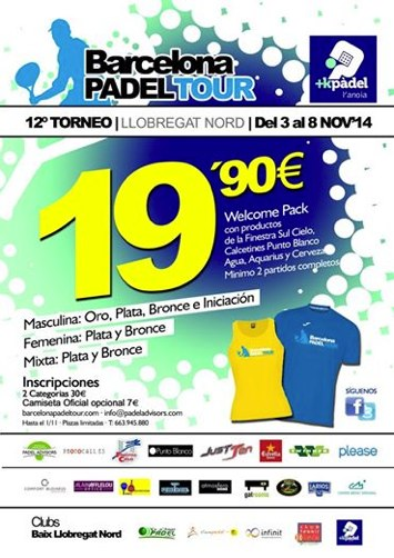 12o Torneo Barcelona Padel Tour +KPàdel de L´Anoia