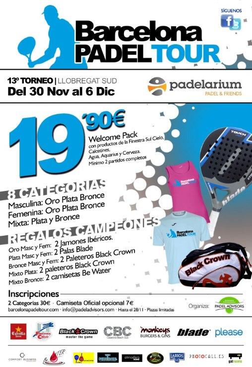 13o Torneo Barcelona Padel Tour en el Padelarium Gavà