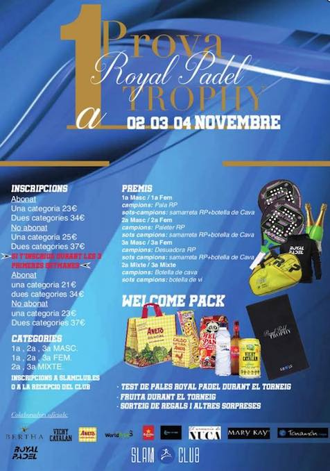 1a PROVA ROYAL PADEL TROPHY