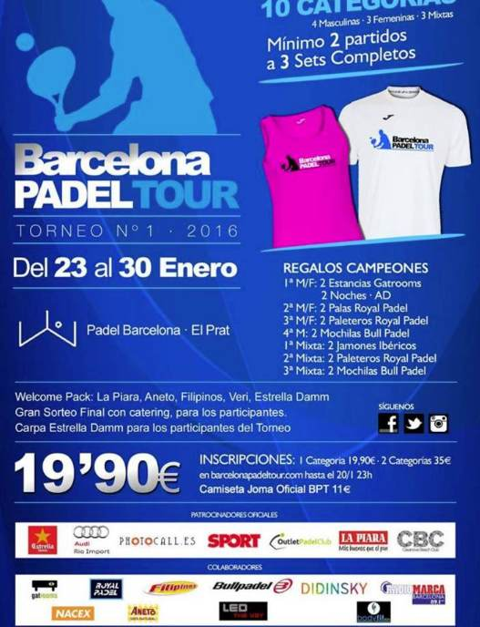 1a prueba Barcelona Padel Tour 2016