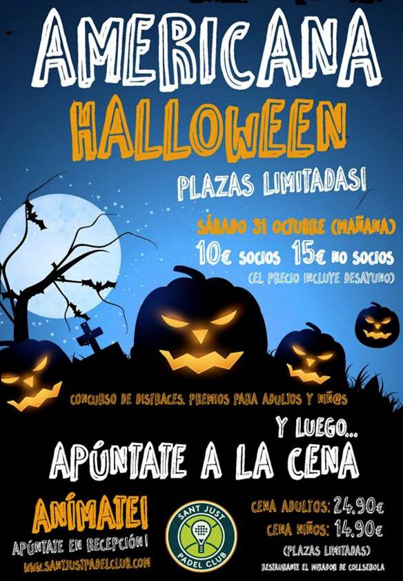 1a Americana Haloween en el Sant Just Padel Club