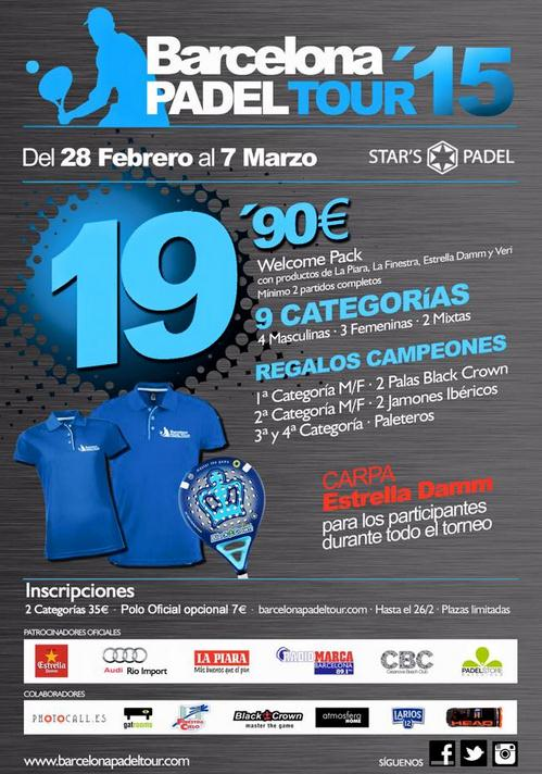1a Prueba Barcelona Padel Tour Star's Padel