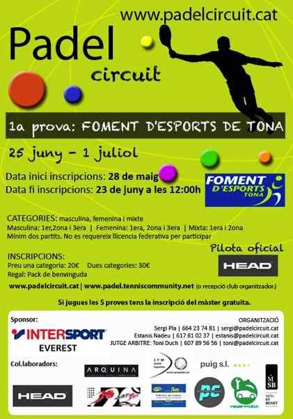 1a prueba del PadelCircuit 2012 en el Foment Desports de Tona