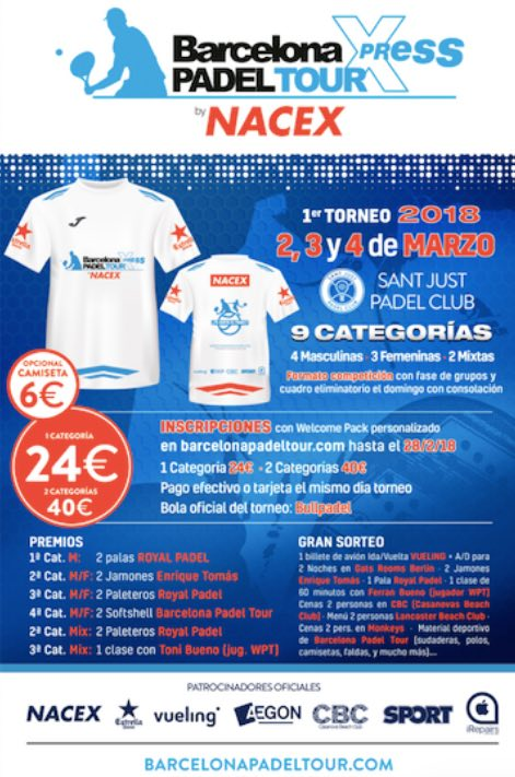 1er Torneo Barcelona Padel Tour Xpress by Nacex