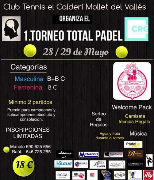 1er Torneo total Padel