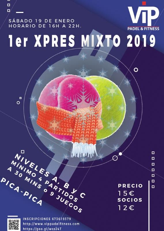 1er XPRES MIXTO 2019 VIP PADEL & FITNESS