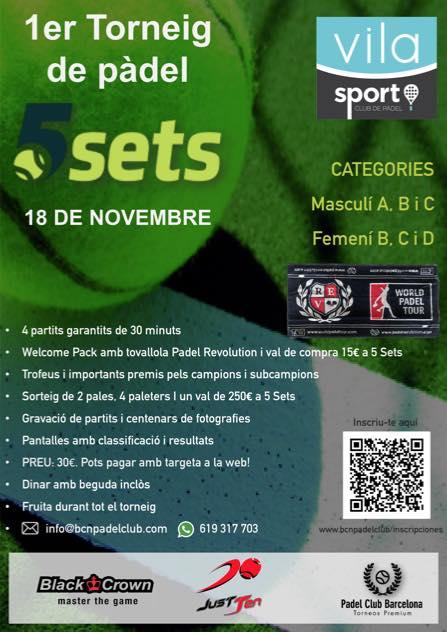 1er torneo 5 SETS de padel