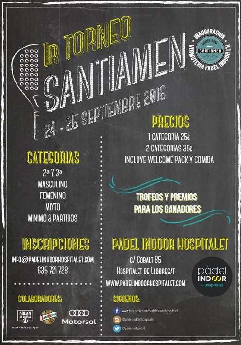 1er torneo de padel Santiamen