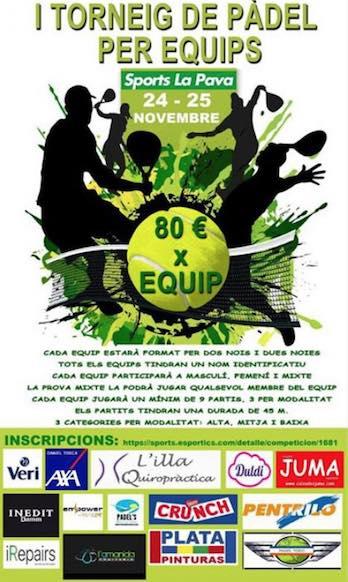 1er torneo de padel X equipos Sports La Pava