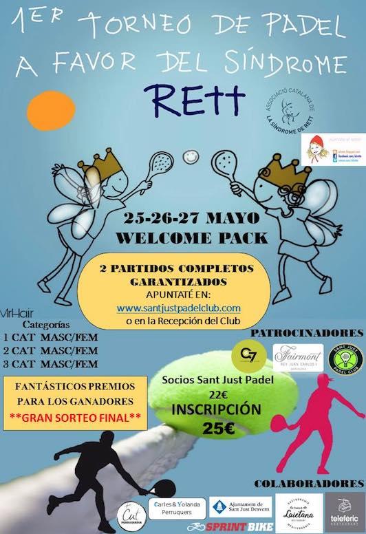 1er torneo de padel a favor del Sindrome RETT
