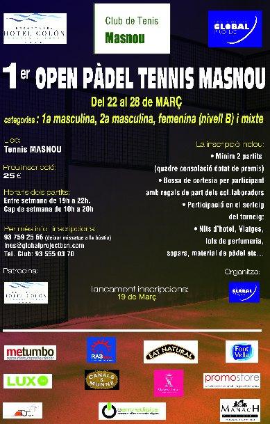 1er Open Padel el Masnou