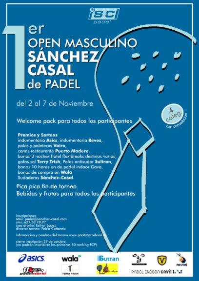 1er Open masculino Sanchez Casal de padel