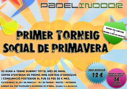 1er Social de privamera en en Padel Indoor Lleida