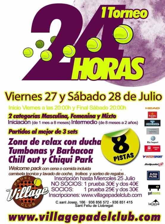 1er Torneo 24 Horas Village padel club