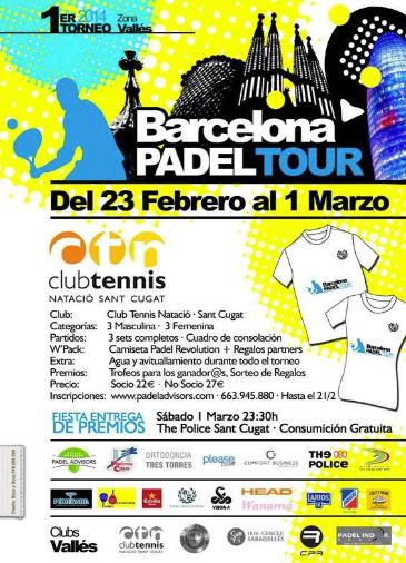 1er Torneo Barcelona Padel Tour
