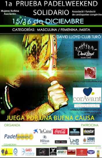 1er TorneoPadelweekend SolidarioDAVID LLOYD CLUB TURO