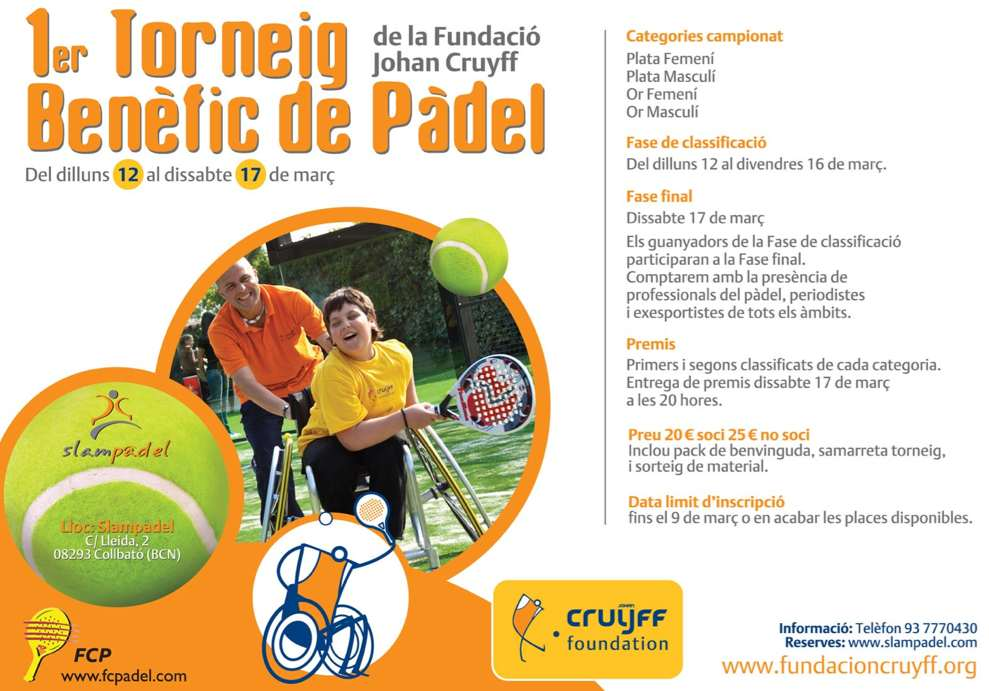 1er Torneo benefico de padel Fundacion Johan Cruiff