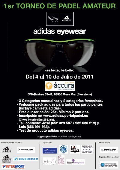 1er Torneo de Padel Amateur Adidas Eye