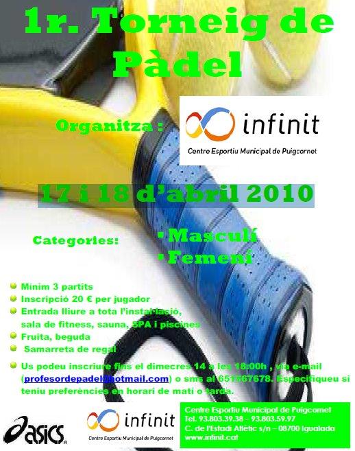 1er Torneo de Pádel Infinit