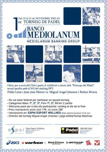1er Torneo de pádel Banco Mediolanum