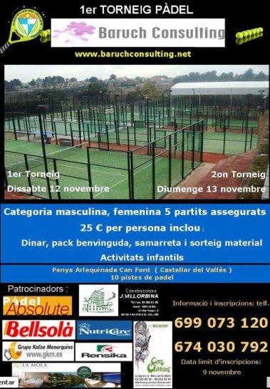 1er Torneo de padel Baruch Consulting en Castellar del Valles
