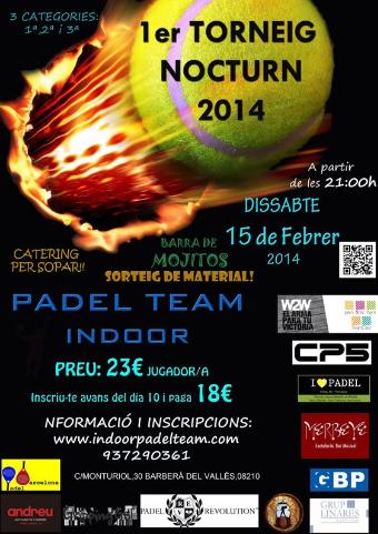 1er Torneo nocturno Padel Team Indoor