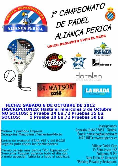 1er campeonato de padel Alianza Perica