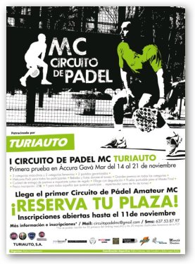 1er Circuito de padel MC Turiauto en el Accura Gava de Mar