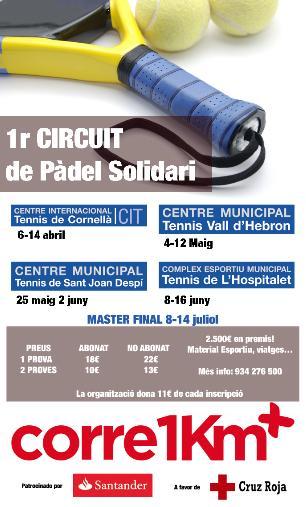 1er circuito de padel solidario en el CIT Cornella