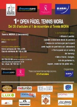1er Open padel tennis Mora