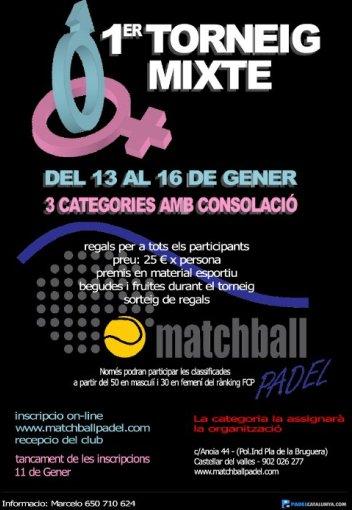 1er torneig mixte matchball padel