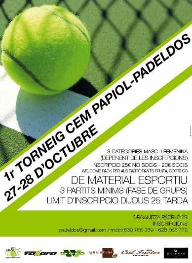 1er torneo CEM Papiol-Padeldos