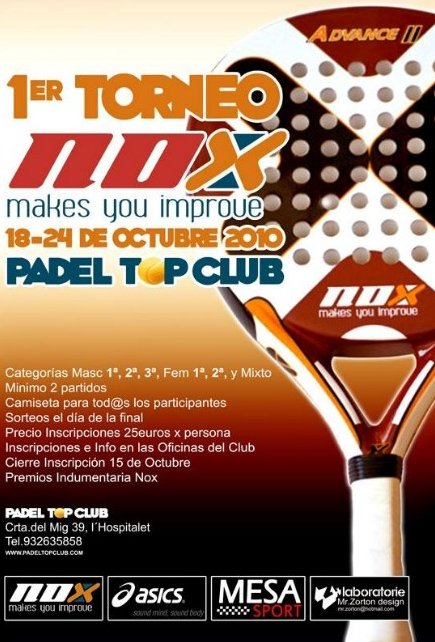 1er torneo NOX en el Padel Top Club