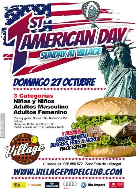1er torneo de padel American day Village padel club