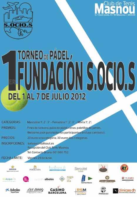 1er torneo de padel Fundacion S.ocio.s
