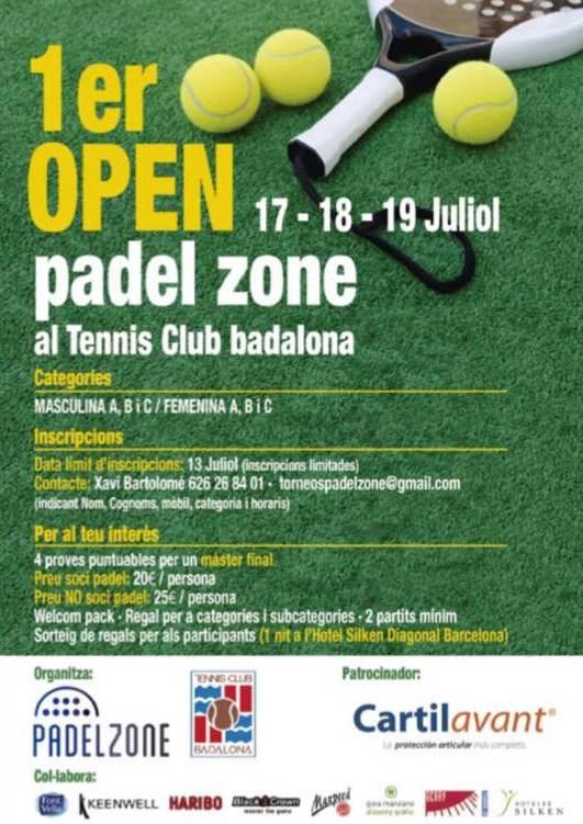 Torneo de padel 1er open Padel Zone en Club Tenis Badalona