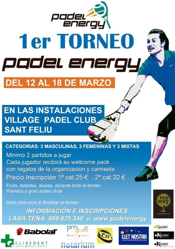 1er Torneo padel energy en el Village Padel Club