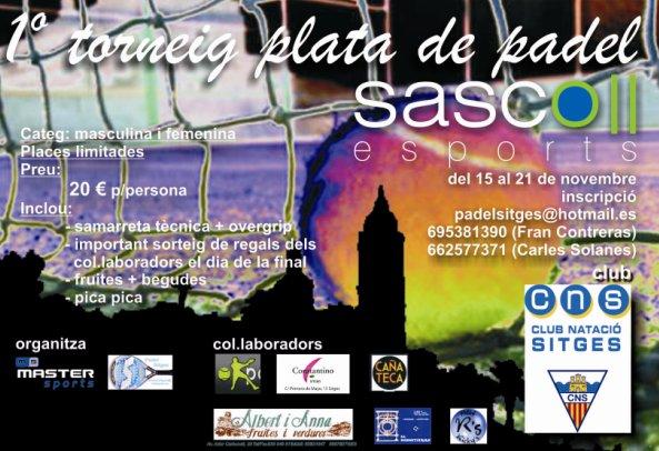 1er torneo plata de pádel Sasco esports