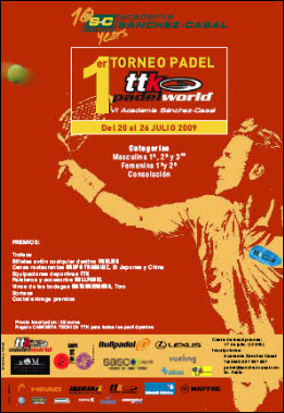 1er Torneo TTK Padel World (20 al 26 julio)