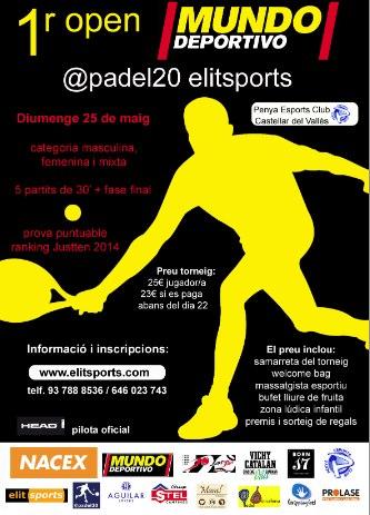 1r open Mundo Deportivo padel20