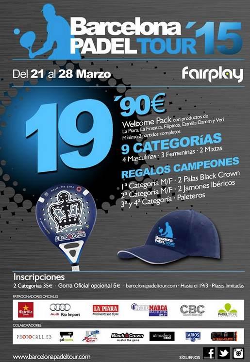2a Prueba Barcelona Padel Tour en el Fairplay