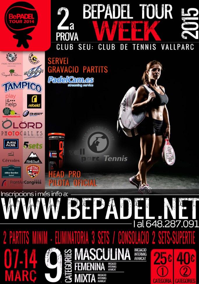 2a prueba BePadel Tour WEEK&WEEKEND 2015