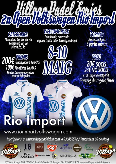 2n OPEN Volkswagen Rio Import en el Village Padel Club
