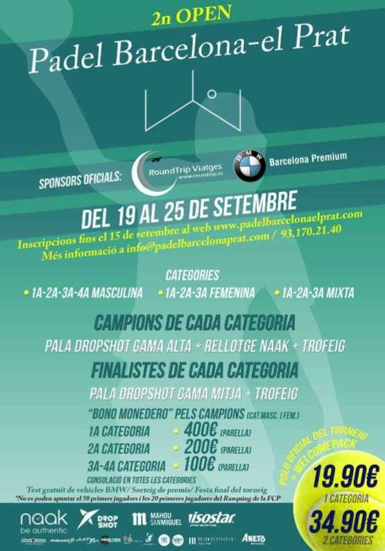 2o Open Padel barcelona-el Prat
