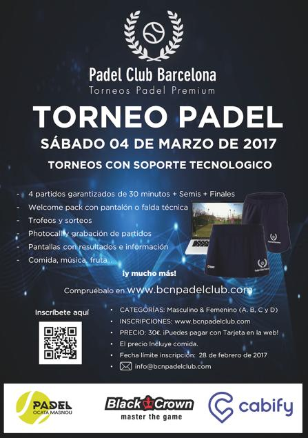 2º Torneo Padel Club Barcelona