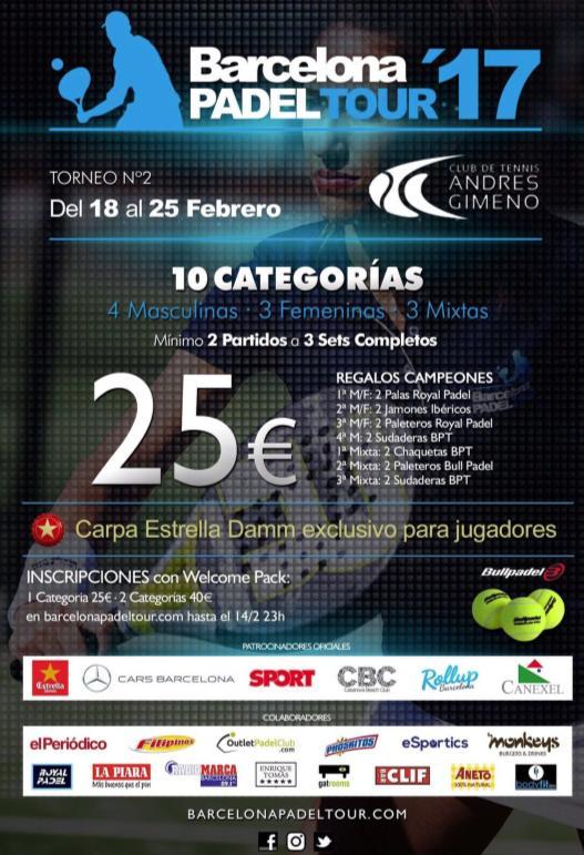 2o torneo Barcelona Padel tour 2017