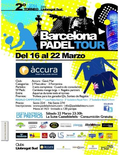 2o Torneo Barcelona Padel Tour Accura Gavà