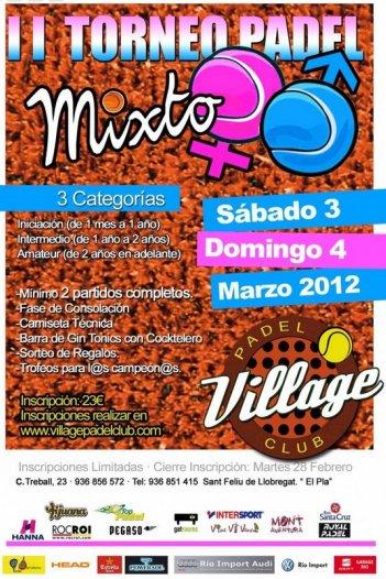2o Torneo Mixto Village Padel