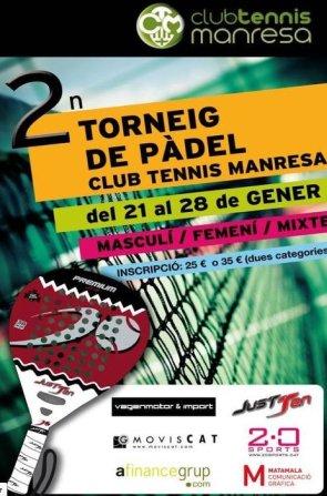 2o Torneo de pádel Club Tennis Manresa