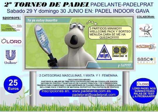 2o Torneo de padel Padelante-Padelprat
